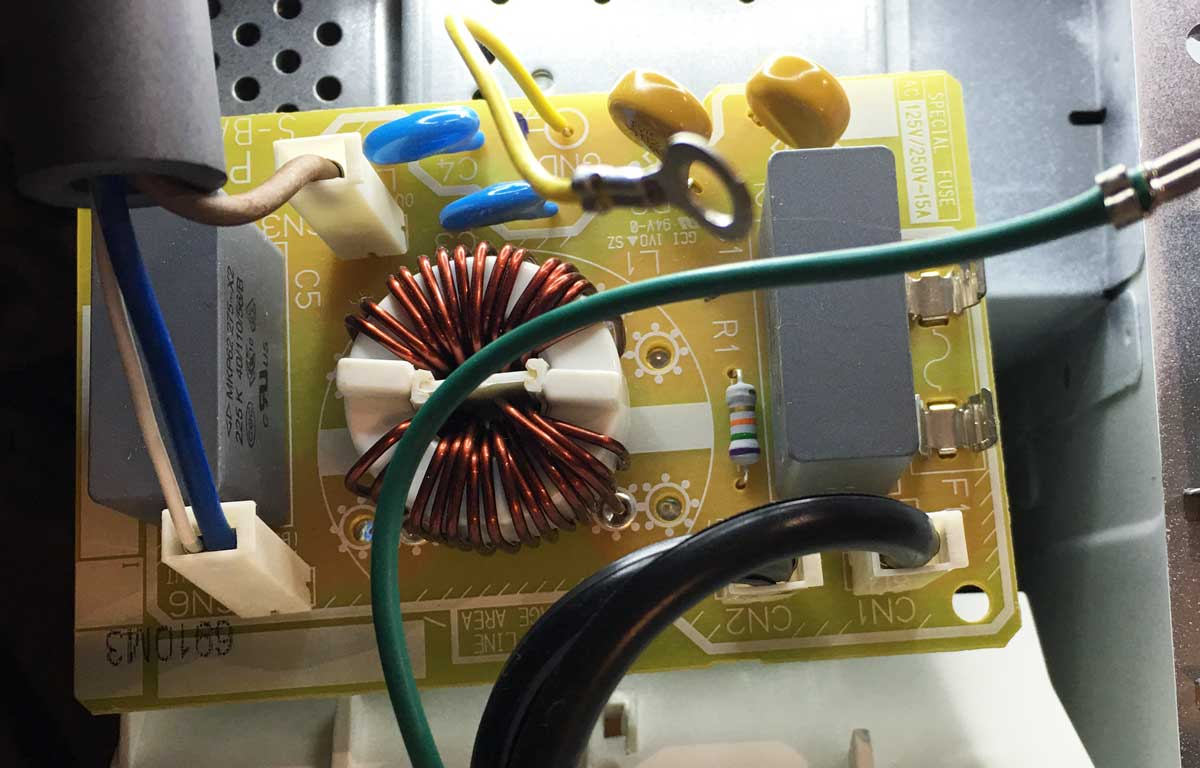 Microwave power board removed