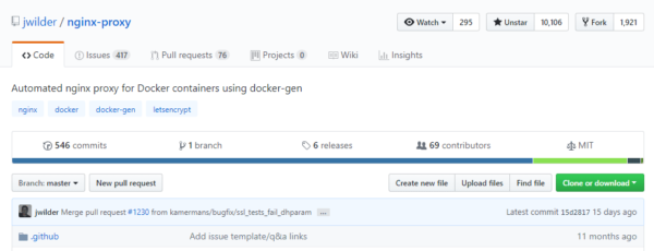 Automated Nginx Reverse Proxy for Docker