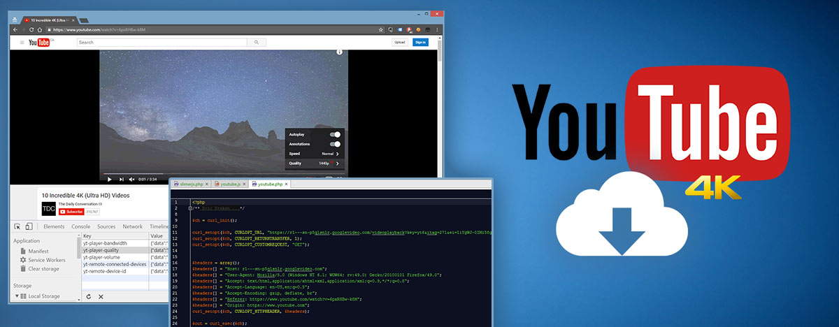 Download YouTube 4K Videos with PHP and SlimerJS